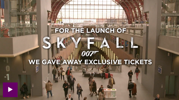 Train Commuters Given James Bond Challenges for Skyfall   Guru
