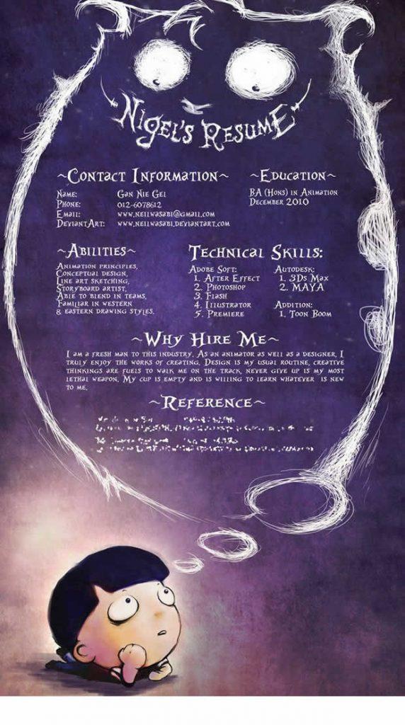 An Illustrators Dream CV