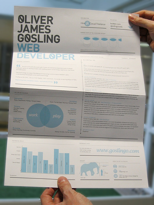 Oliver Gosling Creative Web Development CV