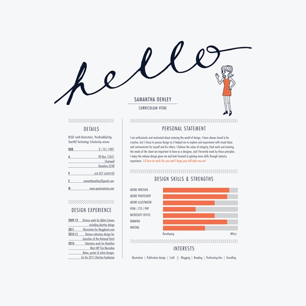 Sam Oehley Creative CV  Resume Design Examples