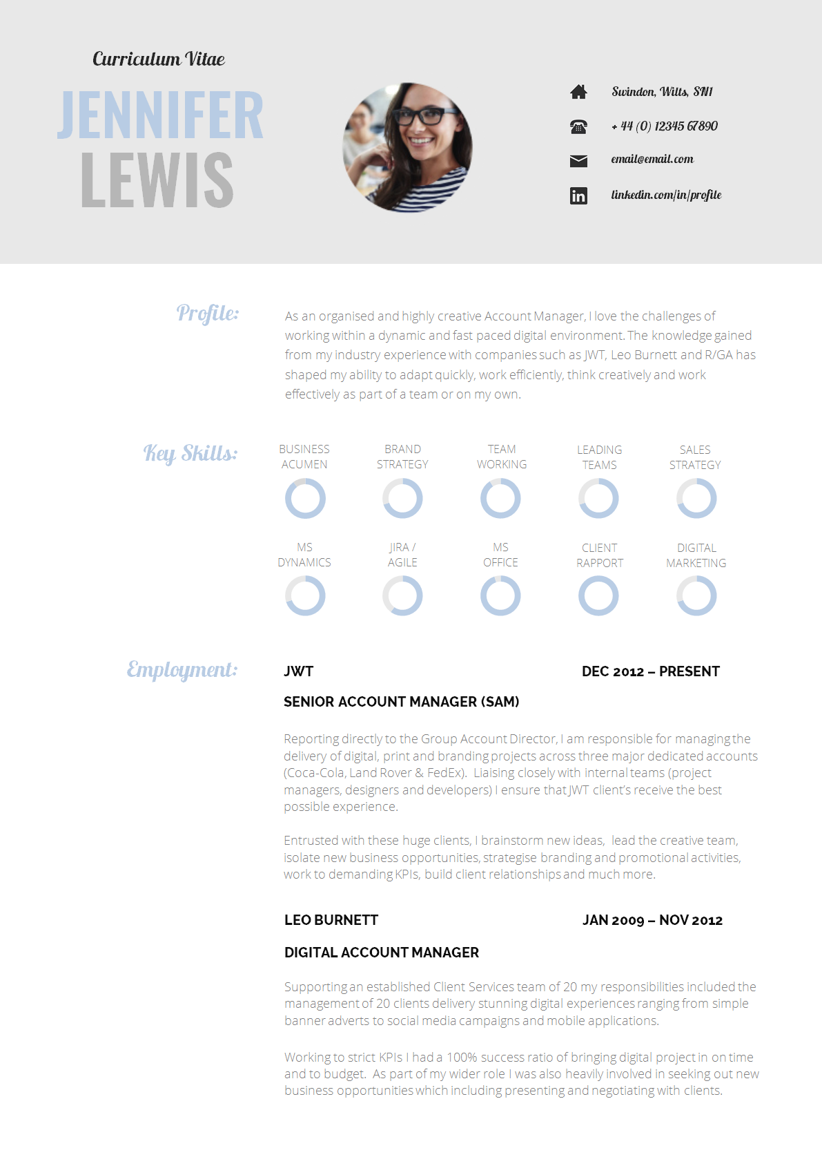 cv template - Sample Resume Templates For It Professional