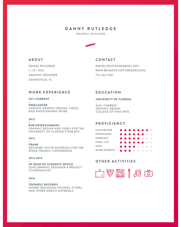 cv template - Typical Curriculum Vitae