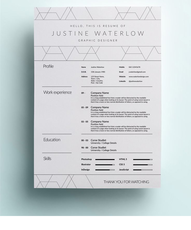 Kitchen Layout Templates 6 Different Designs: 13 Slick And Highly Professional CV Templates