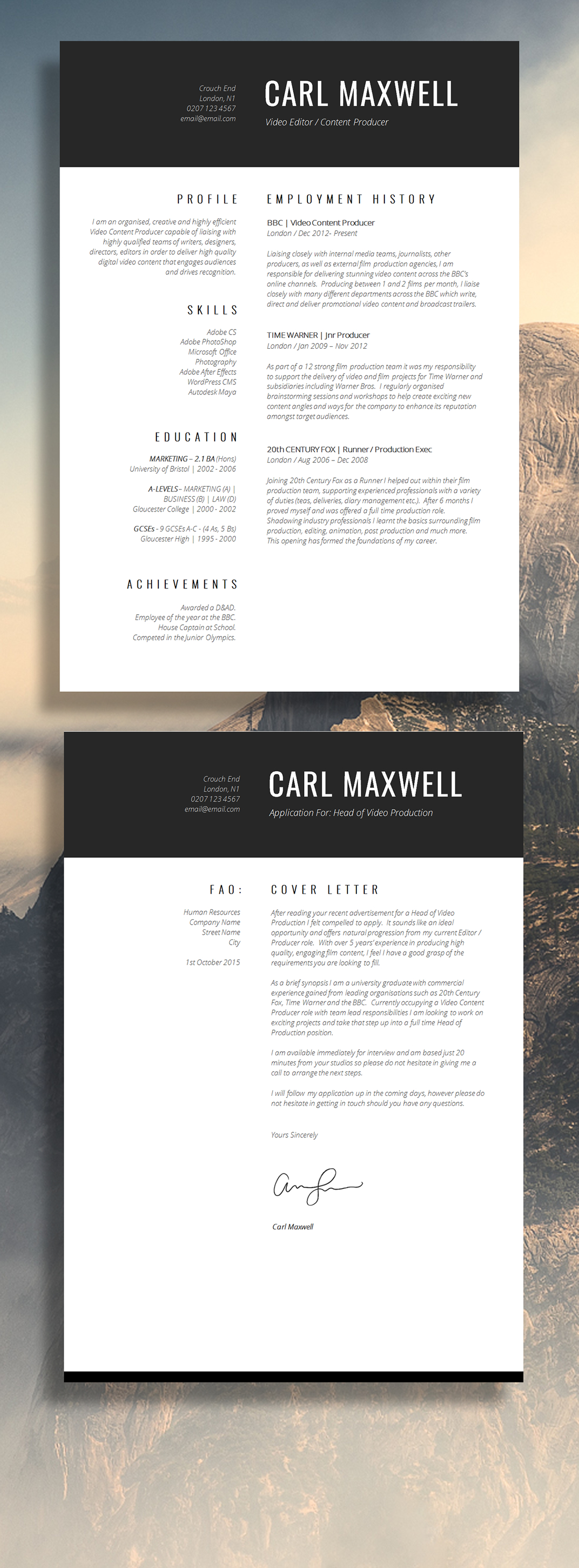 12 Brilliant CV Designs That You  39 ll