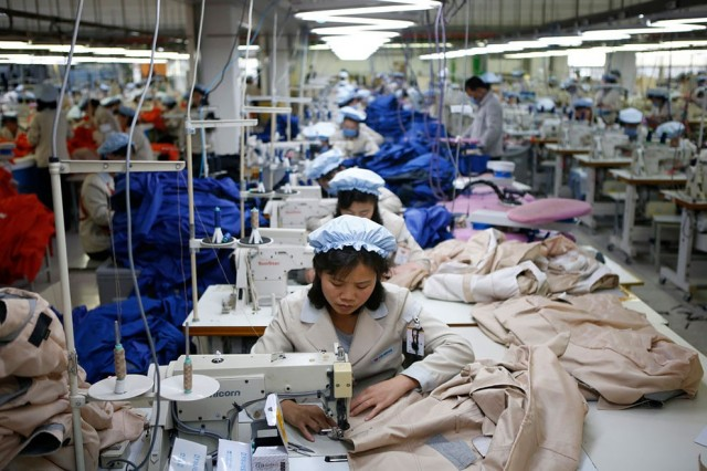 Women Working in North Korea - Factory 2