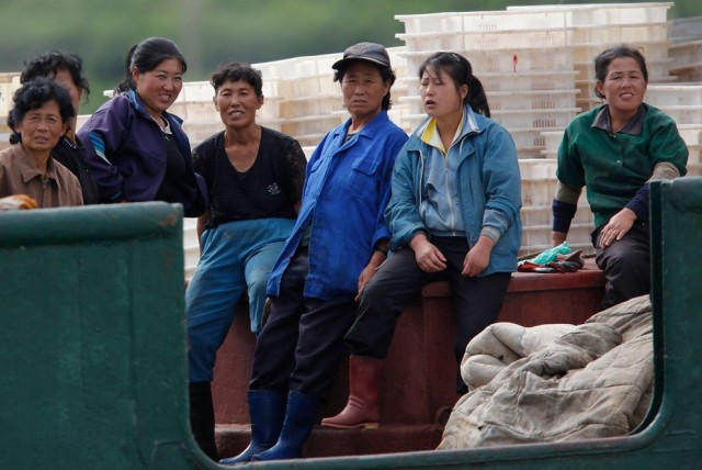 Women Working in North Korea - Fishing
