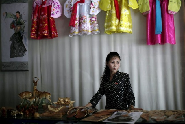 Women Working in North Korea - Gift Shop