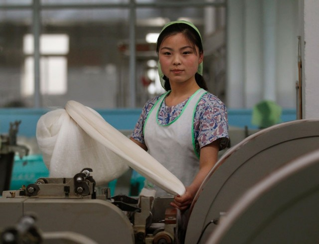 Women Working in North Korea - Mill