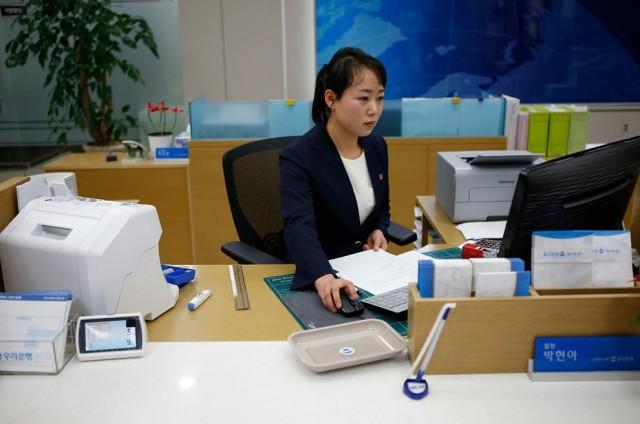 Women Working in North Korea - Office