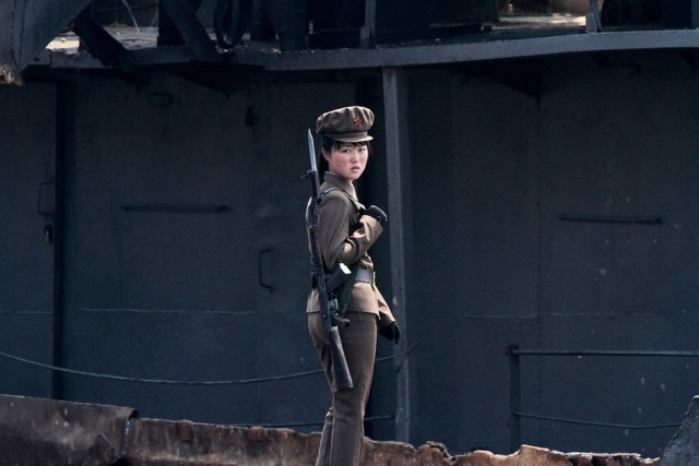 Women Working in North Korea - Soldier