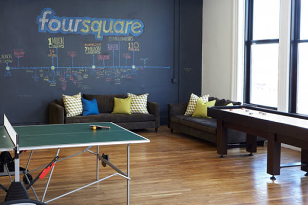Foursquare New York Office Games Area