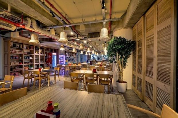 Google Tel Aviv Office Kitchen View