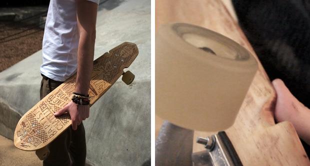 Skateboard CV in hand