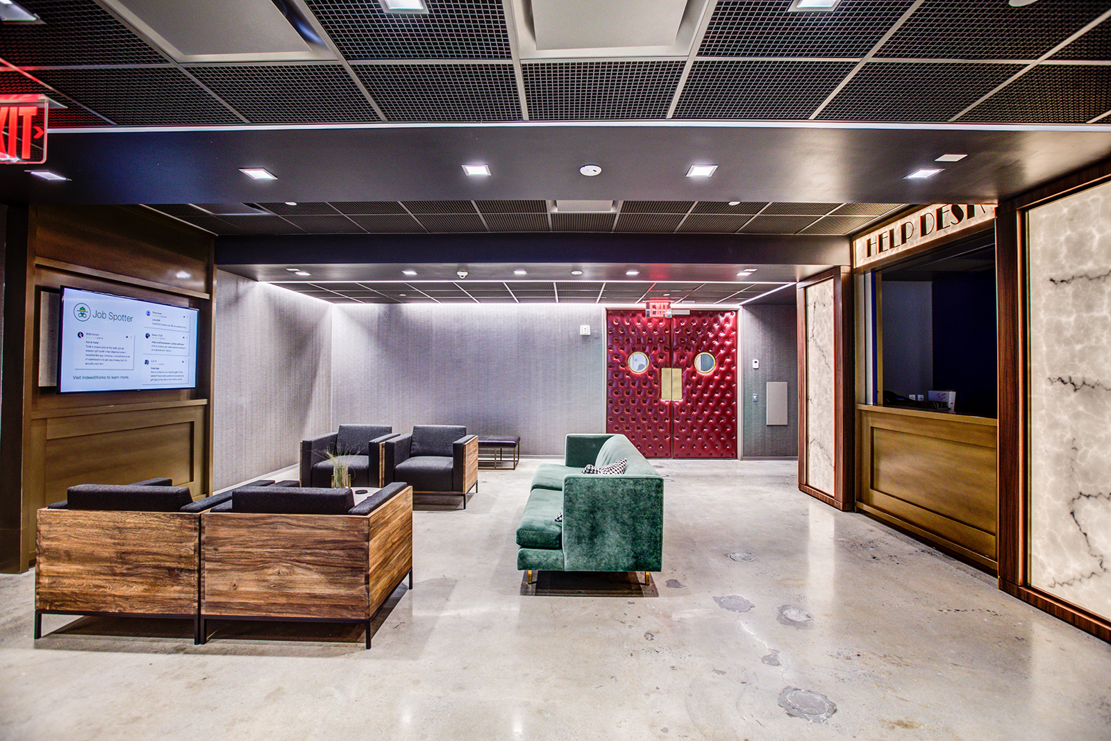 indeed u2019s movie themed new york office has a yoga studio and amazing roof top views