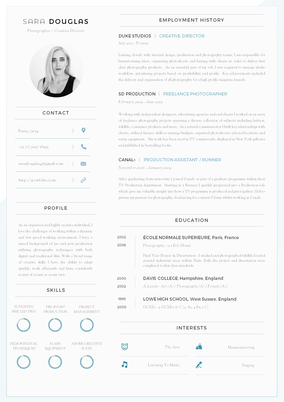 43 modern resume templates guru for Reseume templates