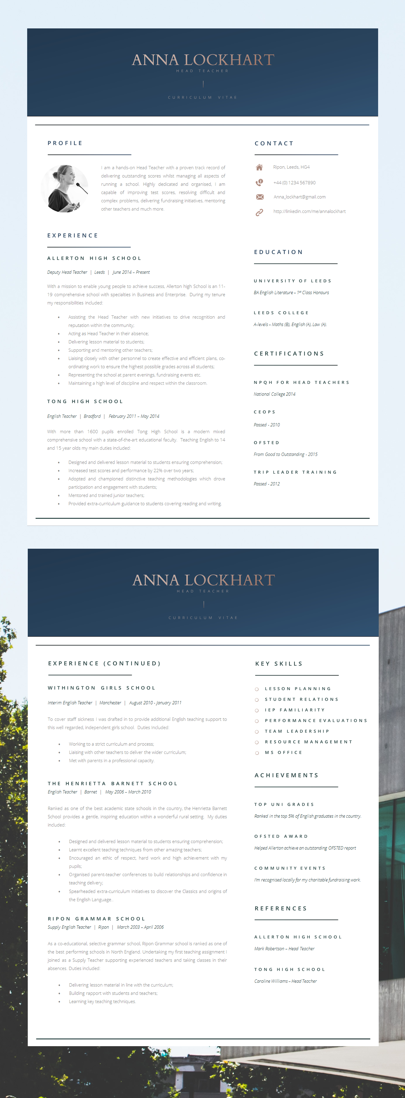 modern resume template free download