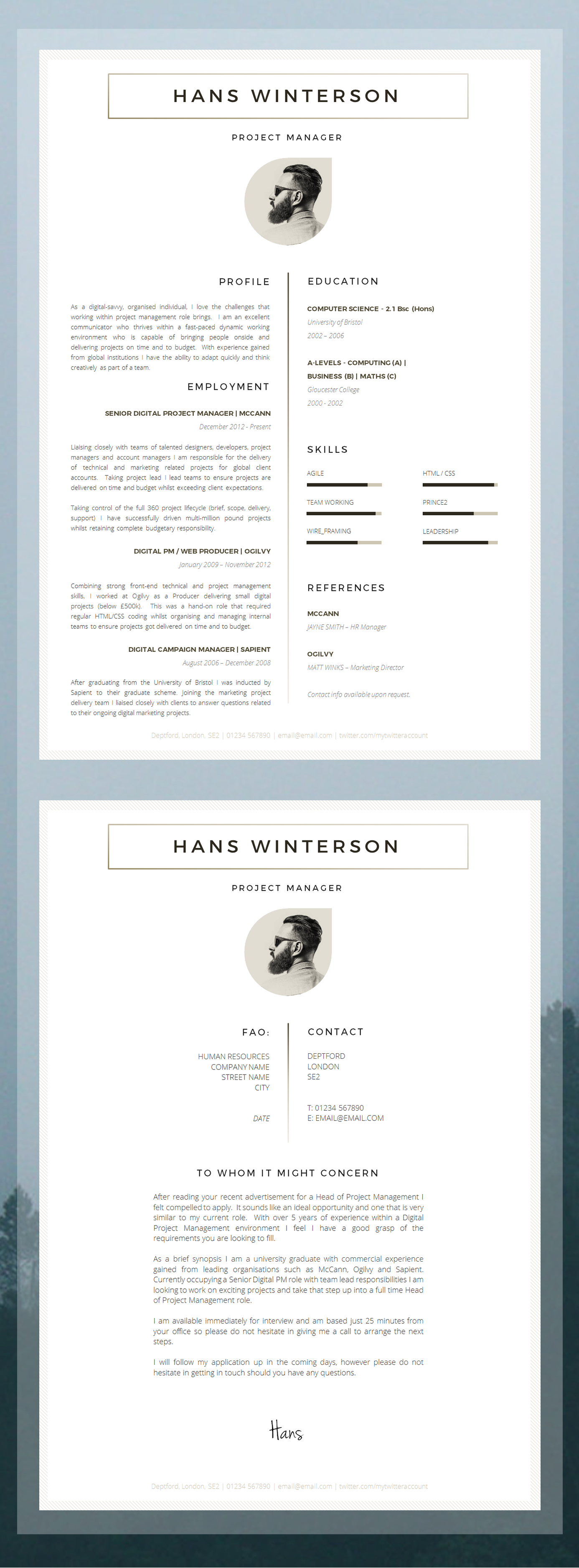 professional cv template - Contemporary Resume Templates
