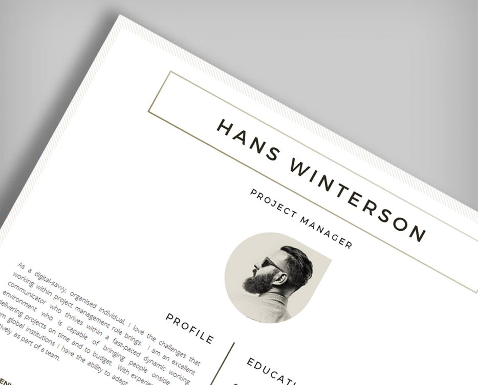 Elegant Resume Template Header Image  Resume Header Template