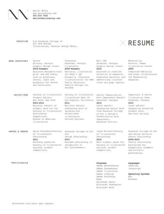 Typed CV
