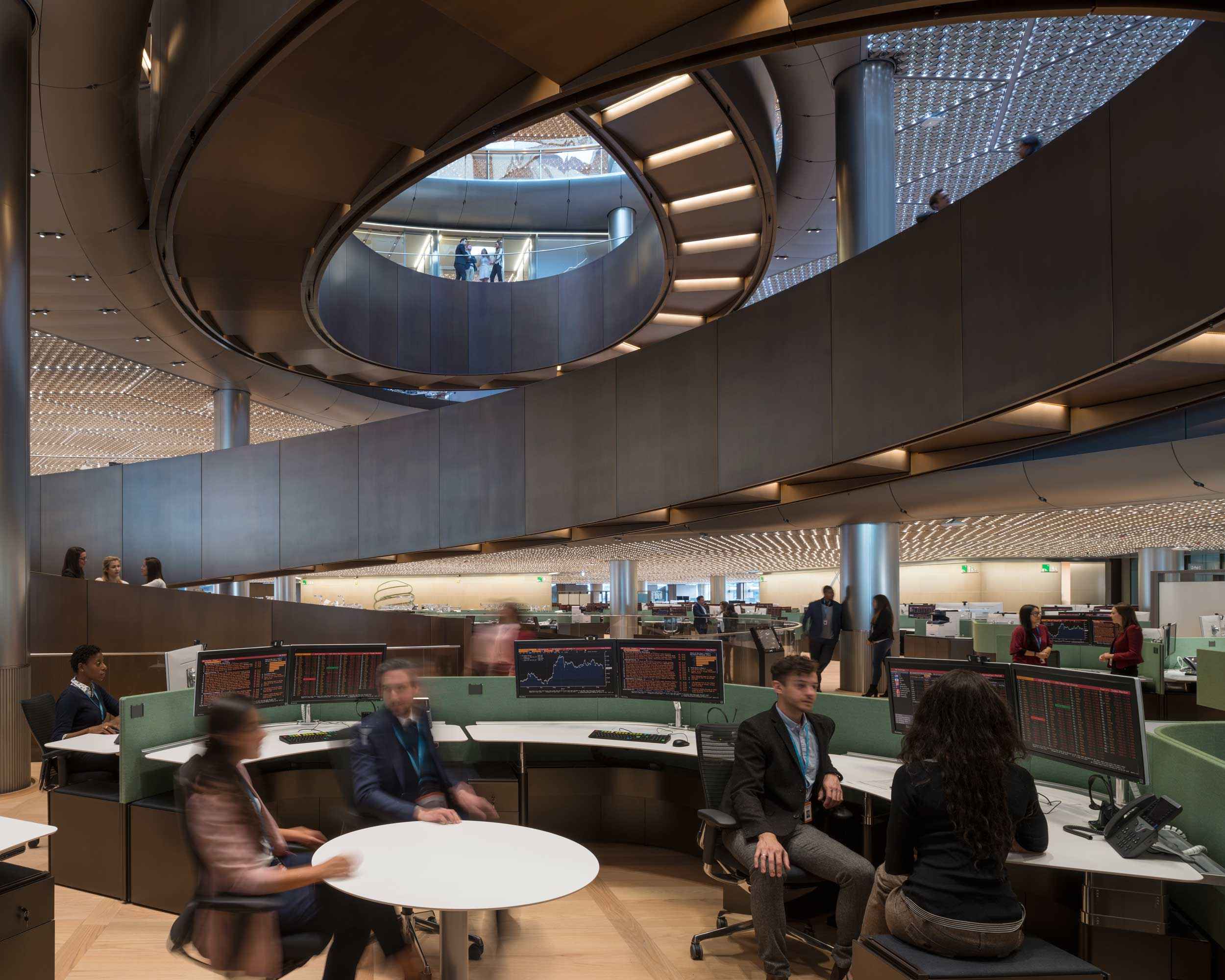 Bloomberg European HQ Workplace - Communal Areas