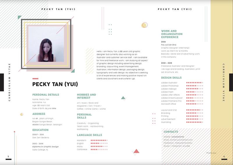 Creative CV & Portfolio Example