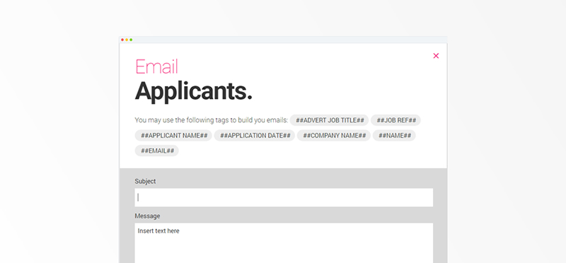 Email Candidate Applications Recruitment ATS